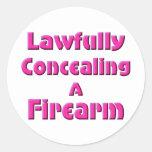 Legal disimulación de un arma de fuego pegatina redonda