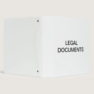 Legal Documents Organizer Binder