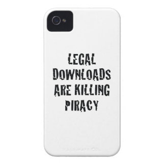 Legal Downloads Are Killing Piracy iPhone 4 Case
