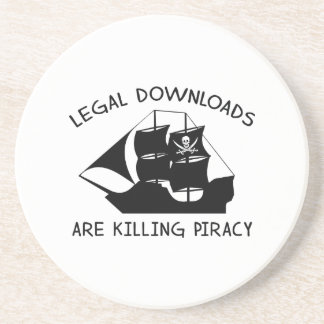 Legal Downloads Are Killing Piracy Drink Coaster