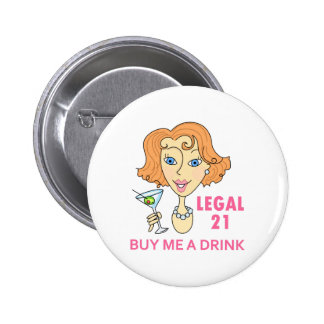 Legal Drinking Age 2 Inch Round Button