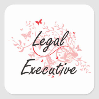 Legal Executive Artistic Job Design with Butterfli Square Sticker