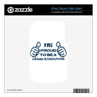 Legal executive Design Skins For iPod Touch 4G