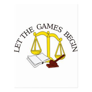 Legal Games Postcard
