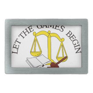 Legal Games Rectangular Belt Buckle