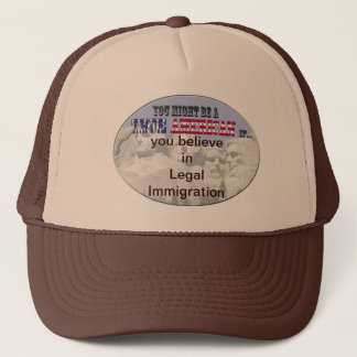 legal immigration trucker hat