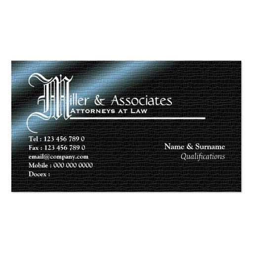 Legal law attorney lawyer firm business card template