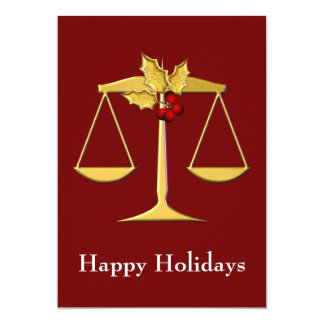 "Legal , Lawyer profession Holiday Cards 5"" X 7"" Invitation Card"
