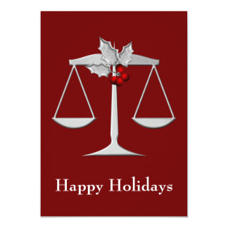 """Legal , Lawyer profession Holiday Cards 5"""" X 7"""" Invitation Card"""