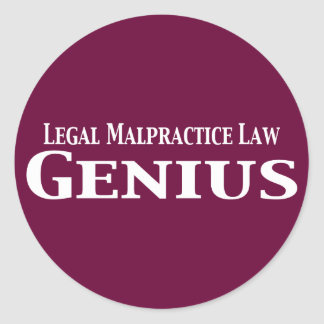 Legal Malpractice Law Genius Gifts Classic Round Sticker