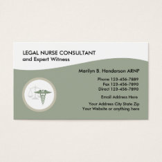 Legal Nurse Practitioner Business Card at Zazzle