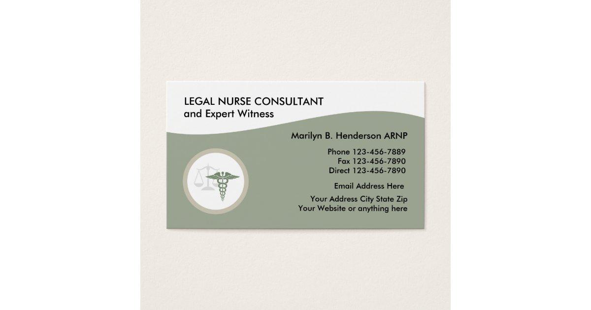 Legal Nurse Practitioner Business Card | Zazzle.com