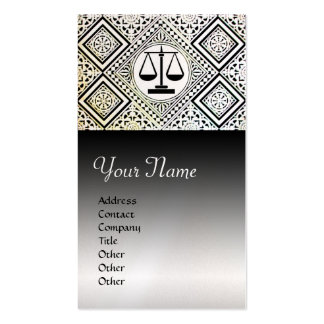 LEGAL OFFICE,ATTORNEY DAMASK Black White Pearl Double-Sided Standard Business Cards (Pack Of 100)