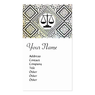 LEGAL OFFICE, ATTORNEY DAMASK Double-Sided STANDARD BUSINESS CARDS (Pack OF 100)