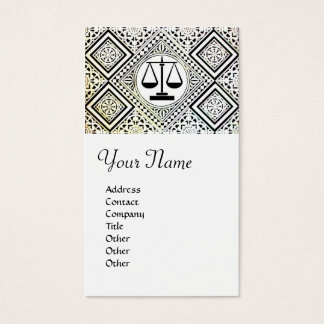 LEGAL OFFICE, ATTORNEY DAMASK BUSINESS CARD
