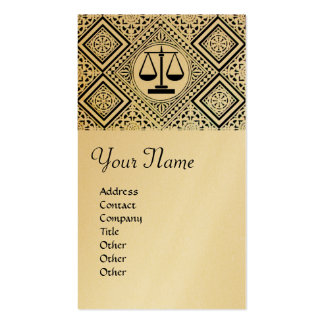 LEGAL OFFICE, ATTORNEY DAMASK gold metallic Double-Sided Standard Business Cards (Pack Of 100)