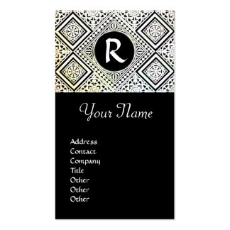 LEGAL OFFICE, ATTORNEY DAMASK Monogram Double-Sided Standard Business Cards (Pack Of 100)