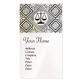 LEGAL OFFICE, ATTORNEY DAMASK pearl paper Double-Sided Standard Business Cards (Pack Of 100)