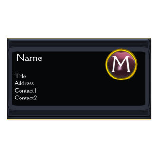 LEGAL OFFICE,ATTORNEY Monogram black purple Double-Sided Standard Business Cards (Pack Of 100)