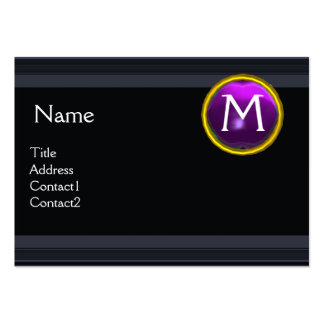 LEGAL OFFICE,ATTORNEY Monogram black purple Large Business Cards (Pack Of 100)