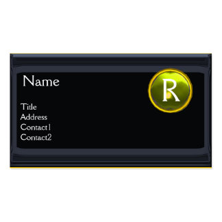 LEGAL OFFICE,ATTORNEY Monogram black yellow topaz Double-Sided Standard Business Cards (Pack Of 100)