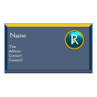 LEGAL OFFICE, ATTORNEY Monogram blue sapphire Double-Sided Standard Business Cards (Pack Of 100)