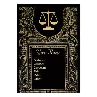 LEGAL OFFICE ATTORNEY Monogram Gold Metallic Business Card Templates