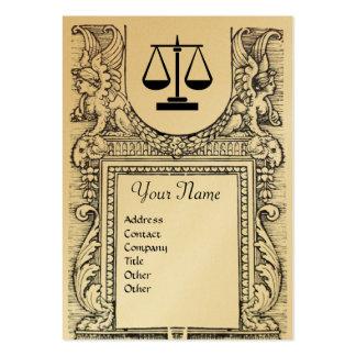 LEGAL OFFICE ATTORNEY Monogram gold metallic Business Card