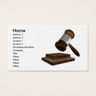 Legal or auction business card