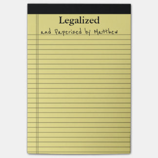 Legal Pad for Legal Thoughts Personalized Post-it Notes