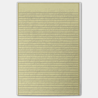 """Legal Pad - """"I Love You"""" handwritten Post-it® Note"""