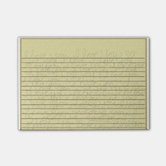 """Legal Pad - """"I Love You"""" handwritten Small Post-it Post-it® Notes"""