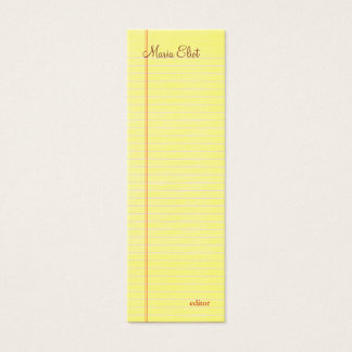 Legal Pad Mini Business Card