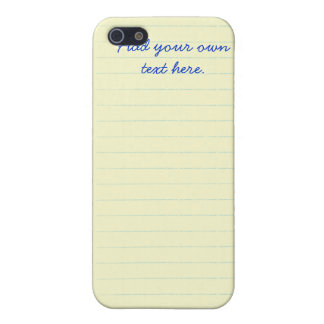 Legal Pad Notebook iPhone 4 Case