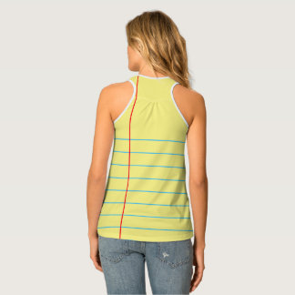 Legal Pad - Notebook Paper Graphic© Racerback Tank Tank Top