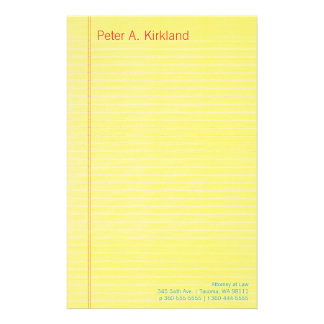 Legal Pad Personalized Stationery