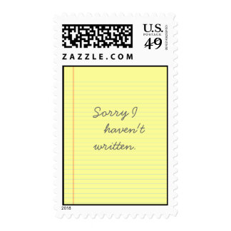 legal pad postage stamps