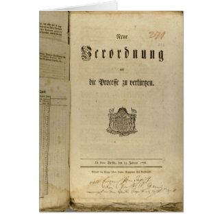 Legal Procedure of 1776 Card