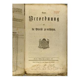 Legal Procedure of 1776 Postcards