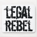 Legal Rebel mouse pad mousepad