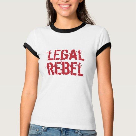 Legal Rebel Ringer T— Red Logo T-Shirt