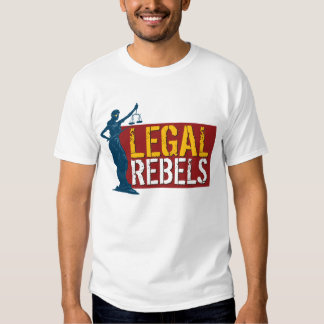 Legal Rebels & Lady Justice on Red T-Shirt