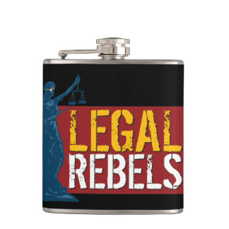 Legal Rebels Metal Flask