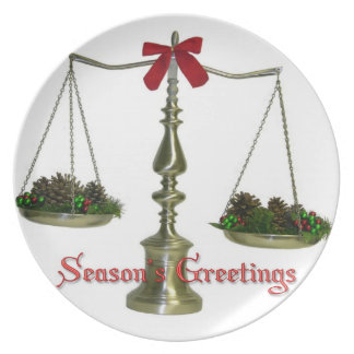 Legal Scales Christmas Plate