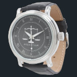 """Legal Scales Custom Name Lawyer Wristwatch<br><div class=""""desc"""">A custom name lawyer watch featuring your name or your gift recipient&#39;s name.</div>"""
