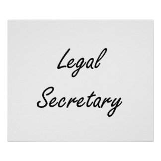 Legal Secretary Artistic Job Design Poster