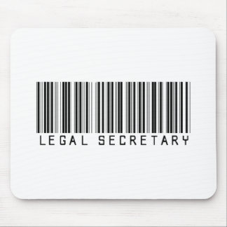 Legal Secretary Bar Code Mouse Pad