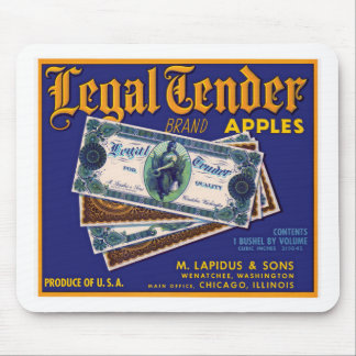 Legal Tender Apples Mouse Pad