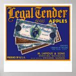 Legal Tender Apples Poster