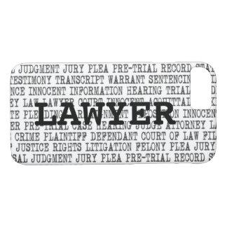 Legal Terminology Custom Phone Case